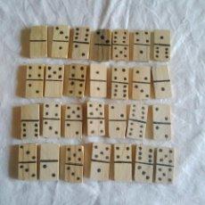 Juegos antiguos: DOMINÓ EN MADERA, HECHO MANUALMENTE. Lote 55707961