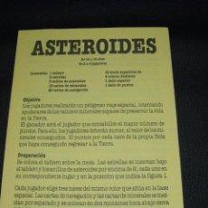 Juegos antiguos: INSTRUCCIONES DEL JUEGO ASTEROIDES. EDUCA. Lote 55778724