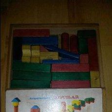 Juegos antiguos: JUEGO DE CONSTRUCCIÓN ARQUITECTURA AGUILAR - AÑOS 60 - CAJA MADERA. Lote 56144694