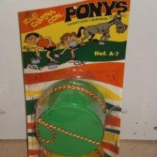 Juegos antiguos: ZANCOS SONOROS PONYS , REF: A-7 ALGEMESÍ ( VALENCIA-ESPAÑA ) JUGUETES DOMINGO. EN BLISTER AÑOS 70/80. Lote 58455539