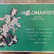 Juegos antiguos: JUEGO MILLONARIOS (56 CARTAS). Lote 60887951