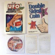 Juegos antiguos: TRUCO DE MAGIA LA CARTA OVNI VOLADORA - THE UFO WHIRLING HELICOPTER CARD - MANIPULACION MAGICA MAGO. Lote 61444335
