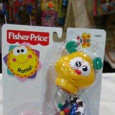 Juegos antiguos: SONAJERO GUSANITO CLIC CLAC.FISHER PRICE AÑO 1999.NUEVO.. Lote 64308715
