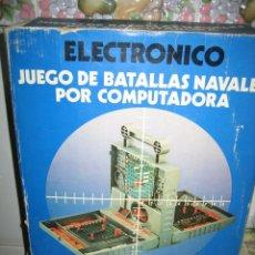 Juegos antiguos: ANTIGUO JUEGO ELECTRÓNICO JUEGO DE BATALLA NAVAL POR COMPUTADORA.NAVAL. INCOMPLETO. Lote 68183993