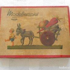 Juegos antiguos: MODELLIERSPIEL, BOITE MODELAGE. KAWE PLAST. JUEGO ALEMÁN DE MODELAJE CON PLASTILINA AÑOS 60. Lote 70036785
