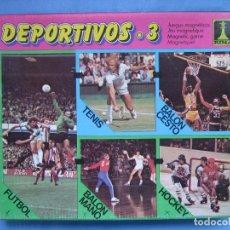 Juegos antiguos: 6 JUEGO MAGNÉTICO DE DEPORTES DE RIMA. NO JUGADO. Lote 70043297
