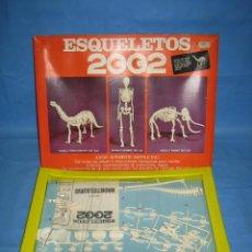 Juegos antiguos: 14 JUEGO DE CONSTRUCCIÓN ESQUELETOS 200. BRONTOSAURIO. COMPLETO. Lote 70119201