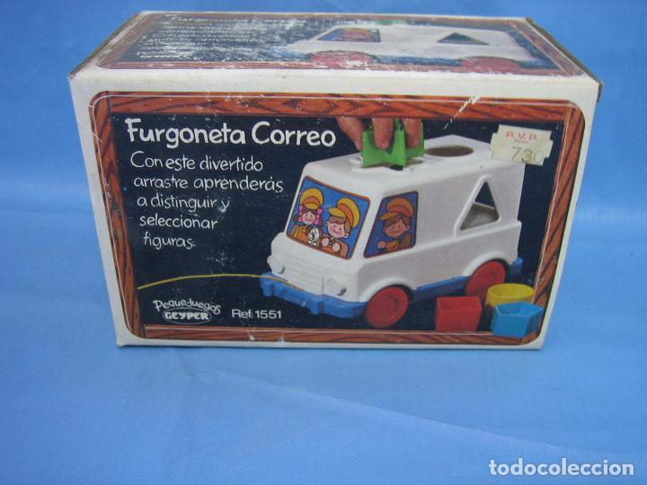 Juegos antiguos: 7 juguete furgoneta correo de geyper - Foto 2 - 70278573