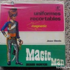 Juegos antiguos: UNIFORMES RECORTABLES - RECORTABLE MAGIC MAN - JEAN DENIS - BORRAS. Lote 70360829