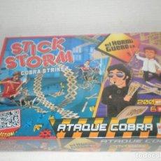 Juegos antiguos: JUEGO STICK STORM PRECINTADO NUEVO, EL HORMIGERO,EL HOMBRE DE NEGRO ATAQUE COBRA GOLIATH. Lote 72691959