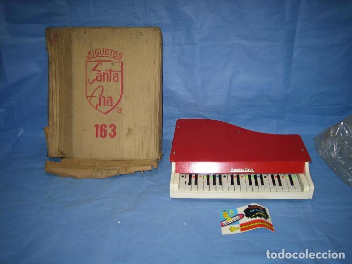 23 PIANO DE MADERA JUGUETES SANTA ANA N 163 AÑOS 70 O 80. SUCIO DE ALMACENAJE . NO JUGADO (Juguetes - Juegos - Otros)