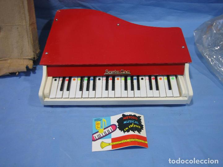 Juegos antiguos: 23 piano de madera juguetes Santa Ana N 163 años 70 o 80. Sucio de almacenaje . No jugado - Foto 4 - 72708347