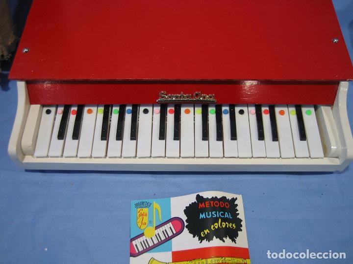 Juegos antiguos: 23 piano de madera juguetes Santa Ana N 163 años 70 o 80. Sucio de almacenaje . No jugado - Foto 6 - 72708347