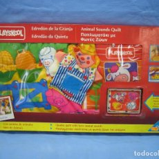 Juegos antiguos: JUEGO INFANTIL EDREDON DE GRANJA DE PLAYSKOOL. NO JUGADO ANTES. Lote 72900775
