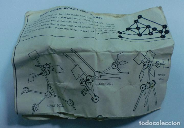 Juegos antiguos: JUEGO. MAKIT TOY. FABRICADO EN U.S.A. CON INSTRUCCIONES. CONSTRUCCION. VER FOTOS - Foto 5 - 76218167