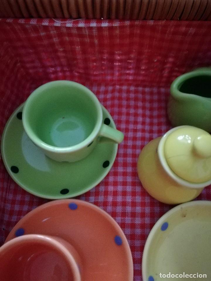 Juegos antiguos: JUEGO DE CAFÉ INFANTIL CON MALETA. Juguete. - Foto 3 - 83130060