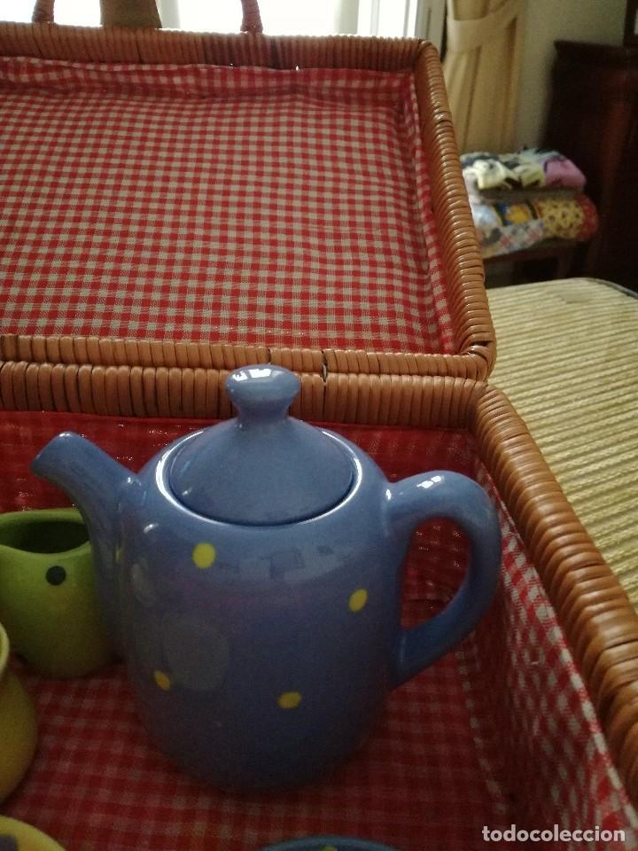 Juegos antiguos: JUEGO DE CAFÉ INFANTIL CON MALETA. Juguete. - Foto 4 - 83130060