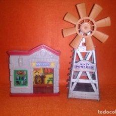 Juegos antiguos: OFICINA DE SHERIFF Y MOLINO DE JUGUETE.... Lote 83618392