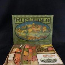 Juegos antiguos: CAJA Y JUEGO MI PUEBLO DE C.B. NUALART Y FAB. POR SEIX & BARRAL HERMANOS. AÑO 1928. Lote 84298196