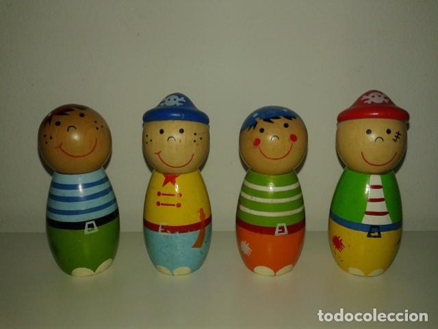 BONITOS BOLOS PIRATA PIRATAS DE MADERA (Juguetes - Juegos - Otros)
