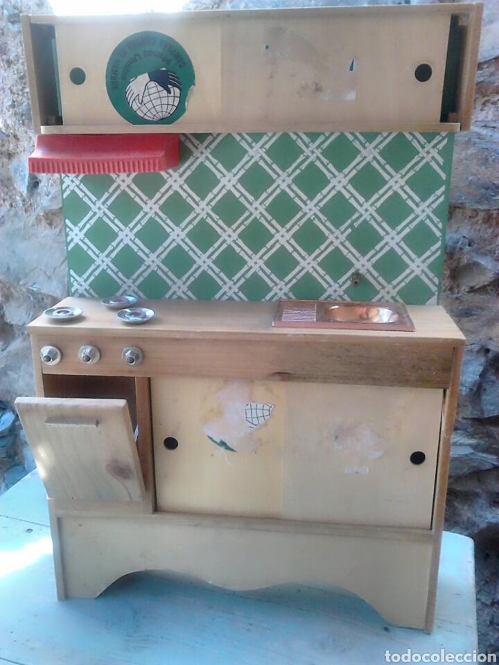 preciosa cocina de madera,de juguete,años 80-90 - Comprar Juegos ...