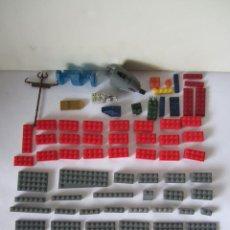 Juegos antiguos: LOTE 98 PIEZAS USADAS MEGA BLOKS COLOR GRIS ROJO AZUL VERDE NEGRO JUEGO CONSTRUCCIÓN. Lote 87845196