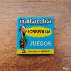Juegos antiguos: ANTIGUO JUEGO 1974 OBSEQUIO MARGARINA NATACHA - MEMORY. Lote 89141168