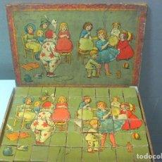 Juegos antiguos: FABULOSO ROMPECABEZAS EN CUBOS DE CARTÓN LITOGRAFIADOS, AÑO DE FABRICACIÓN 1920,JUGUETE ESPAÑOL.. Lote 89174852
