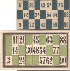 Juegos antiguos: LOTE 6 CARTONES DE BINGO. Lote 90040660