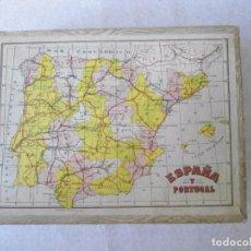 Juegos antiguos: ANTIGUO ROMPECABEZAS EN CARTON DE BORRAS. Lote 90095448