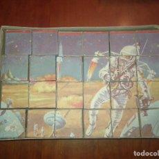 Juegos antiguos: ANTIGUO PUZZLE ROMPECABEZAS ASTRONAUTA DE 24 CUBOS. Lote 90112416