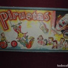 Juegos antiguos: MAGNIFICO JUEGO ANTIGUO PIRUETAS NUMERO 1 E DE BORRAS MATARO. Lote 92195655