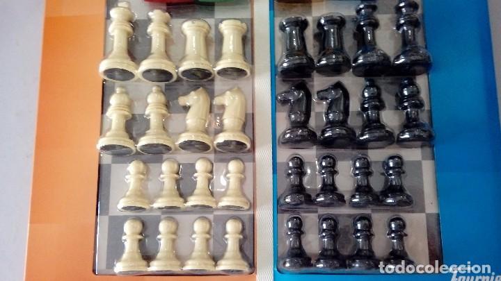 Juegos antiguos: Parchis de 4 jugadores y ajedrez , todo nuevo y precintado ,, Fournier - Foto 4 - 103969182