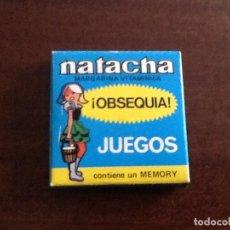 Juegos antiguos: NATACHA JUEGOS MEMORY. Lote 96821963