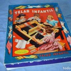 Juegos antiguos: ANTIGUO TELAR INFANTIL DE MADERA - MARCA INVICTA - AÑOS 40/50 - ¡PRECIOSO Y COMPLETO! - ¡MIRA!. Lote 96866527