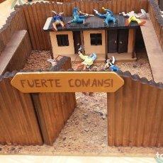 Juegos antiguos: FUERTE COMANSI ORIGINAL C/FIGURAS. Lote 97353107