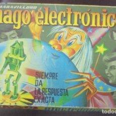 Juegos antiguos: EL MARAVILLOSO MAGO ELECTRONICO. SIEMPRE DA LA RESPUESTA EXACTA. AÑOS 60. EL DE LA FOTO. Lote 97686367
