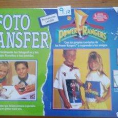 Juegos antiguos: FOTO TRANFER MANUALIDADES PINTAR CAMISETAS POWER RANGERS.DISET 1995.NUEVO EN CAJA SELLADA FÁBRICA.. Lote 98503384