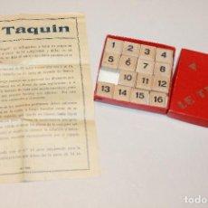 Juegos antiguos: ANTIGUO JUEGO LE TAQUIN DE MADERA, EN CAJA Y CON INSTRUCCIONES. 8,5CM X 8,5CM.INFORMACIÓN Y FOTOS.. Lote 98653499
