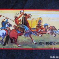 Juegos antiguos: ANTIGUA CAJA DE HOJALATA PARA LAPICES DE COLORES. SPLENDOR DE ROLAN, ESPAÑA AÑOS 60-70. Lote 100501379