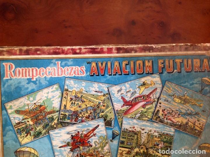 Juegos antiguos: Rompecabezas Aviación Futura-Años 50-Borras?- - Foto 2 - 100510251