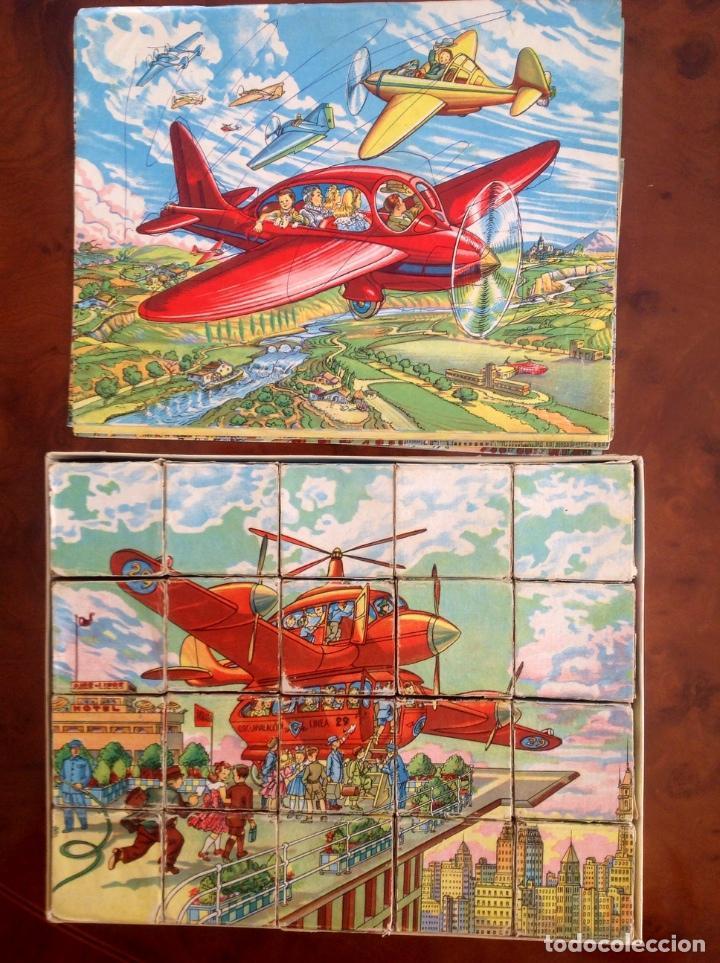 Juegos antiguos: Rompecabezas Aviación Futura-Años 50-Borras?- - Foto 4 - 100510251