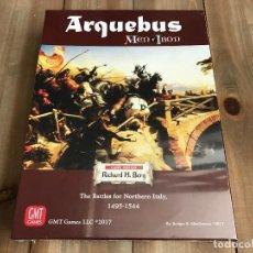 Juegos antiguos: JUEGO WARGAME - ARQUEBUS - MEN OF IRON IV - THE BATTLES FOR NORTHERN ITALY 1495-1544 - GMT. Lote 101577503