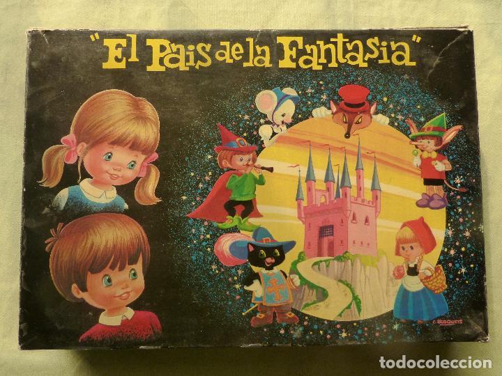 EL PAÍS DE LA FANTASÍA - ROMPECABEZAS DE CUBOS DE CARTÓN - C. BUSQUETS - PLAVEN - AÑOS 60 - 70 (Juguetes - Juegos - Otros)