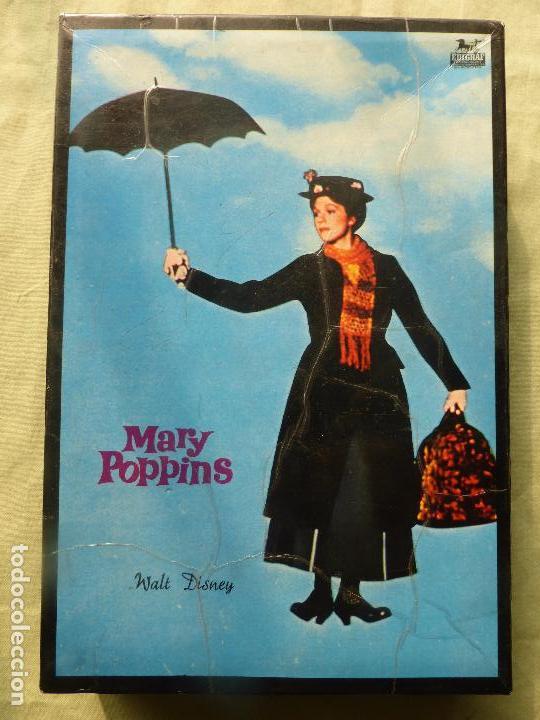 MARY POPPINS WALT DISNEY-ROMPECABEZAS DE CUBOS DE CARTÓN-ORIGINAL 1964-EDIGRAF-ESTADO MUY ACEPTABLE (Juguetes - Juegos - Otros)