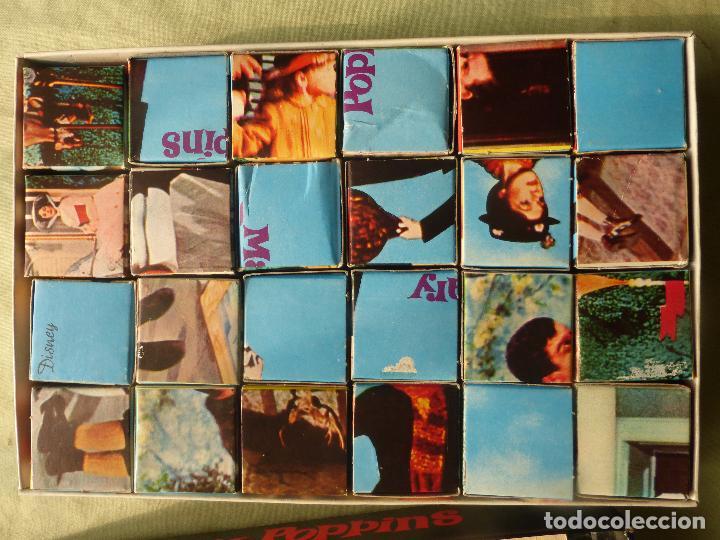 Juegos antiguos: MARY POPPINS WALT DISNEY-ROMPECABEZAS DE CUBOS DE CARTÓN-ORIGINAL 1964-EDIGRAF-ESTADO MUY ACEPTABLE - Foto 2 - 102489343