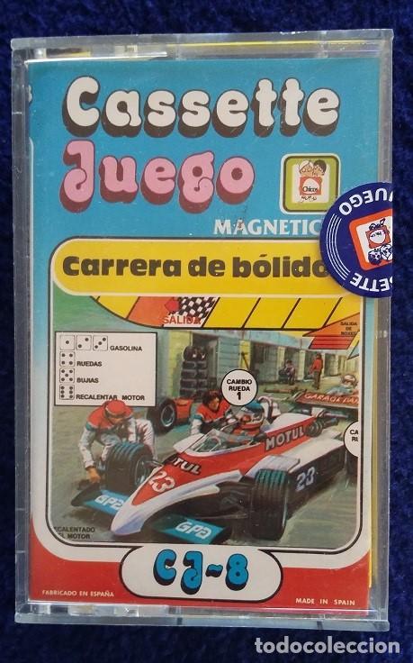 CARRERA DE BOLIDOS. CASSETTE JUEGO MAGNETICO DE CHICOS. CERRADO, SIN USO. AÑOS 80 (Juguetes - Juegos - Otros)