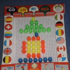 Juegos antiguos: JUEGO COLORINES REF:267/8 JUGUETES PIQUÉ , CLAVO OPACO GRANDE . AÑOS 70 . RETRACTILADO ORIGEN. Lote 107053611