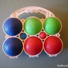 Juegos antiguos: PETANCA TRES JUGADORES EN ESTUCHE PORTABOLAS. Lote 105054339