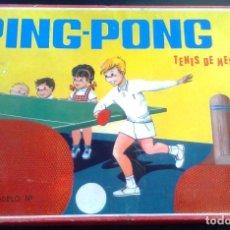 Juegos antiguos: JUEGO ANTIGUO DE PING PONG DE LOS AÑOS 50 Ó 60. TENIS DE MESA INFANTIL.. Lote 105580323